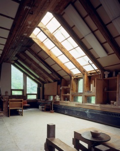 The interior of the Sculpture Room at Goddard College. (Credit: Fleming Museum at UVM)