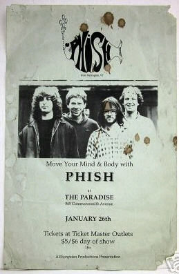 The original flyer for 1/26/89