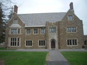 The Sigma Phi house at Hamilton College as seen today.