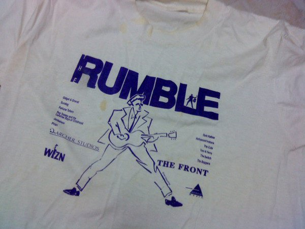 The official T-shirt of the WIZN Rock Rumble