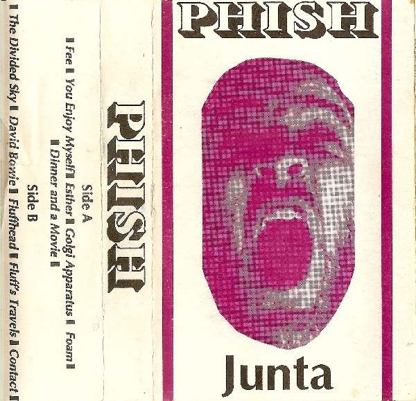 The original Junta cassette cover with Fishman's face as released in May 1989.